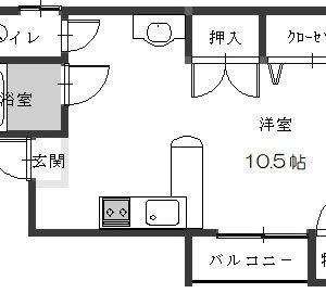 洋室10.5帖(間取)