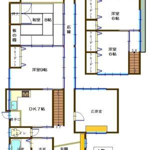 1階:和室8帖/洋室9帖/DK7帖 2階:洋室6×2