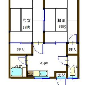 和室6帖×2/台所4.5帖